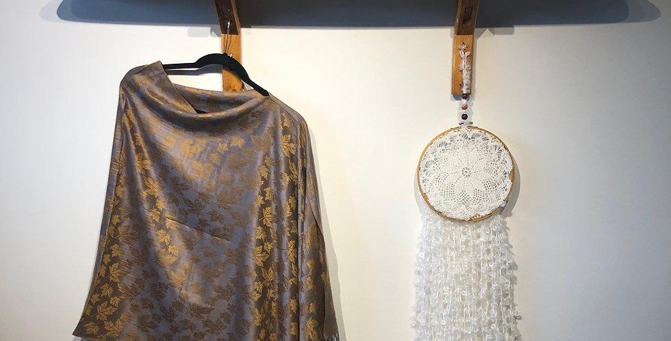 Cotton & Viscose Draped Shawl