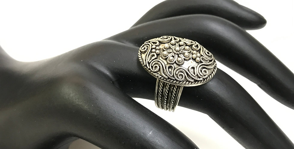 Turkish Filigree Style Handcraft Silver Ring
