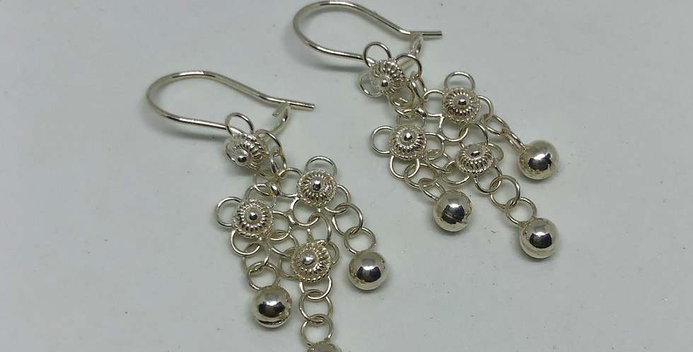 Filigree Silver Earring