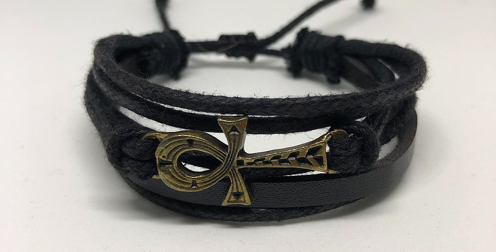 Ankh-Life Rope Bracelet