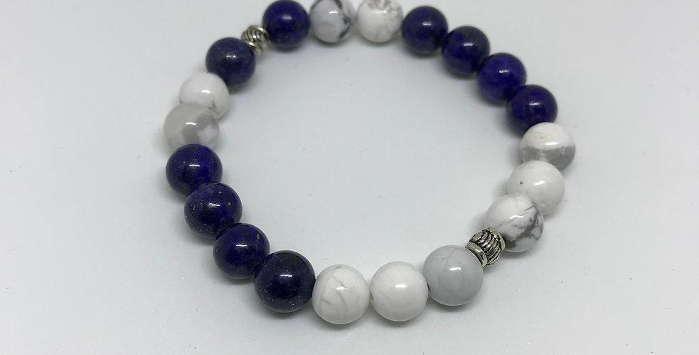 Howlite & Lapis Bracelet