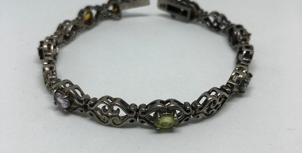 Gemstone Antique Silver Bracelet