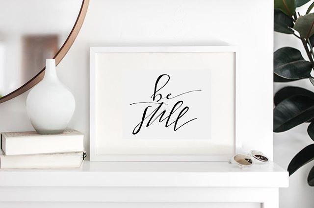 _ BE STILL _ _#moderncalligraphy #callig
