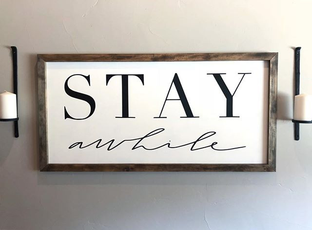 Say hello to the _ STAY AWHILE _ sign.jp