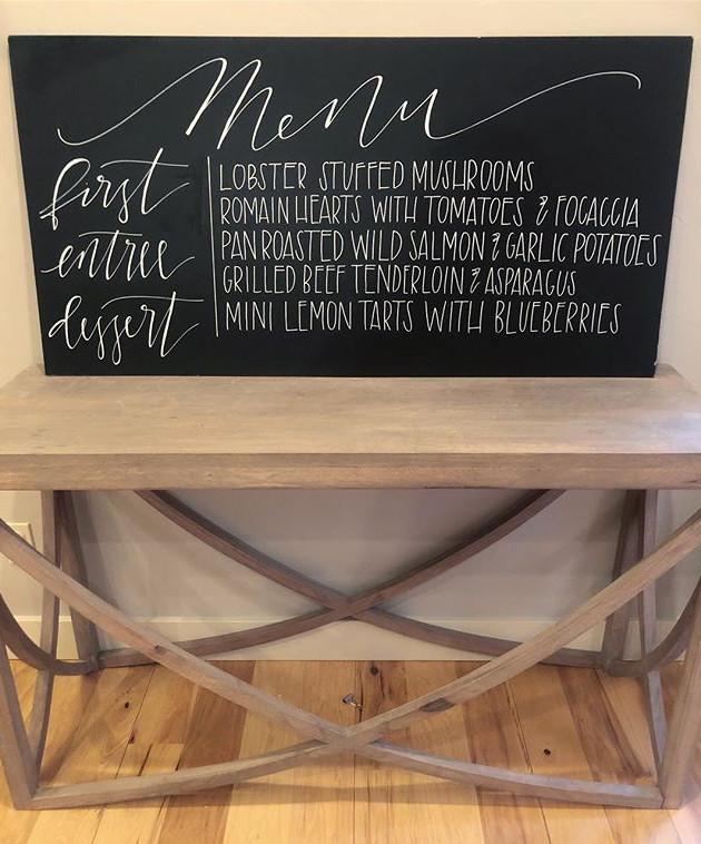 A little morning Wedding Menu project 🙌