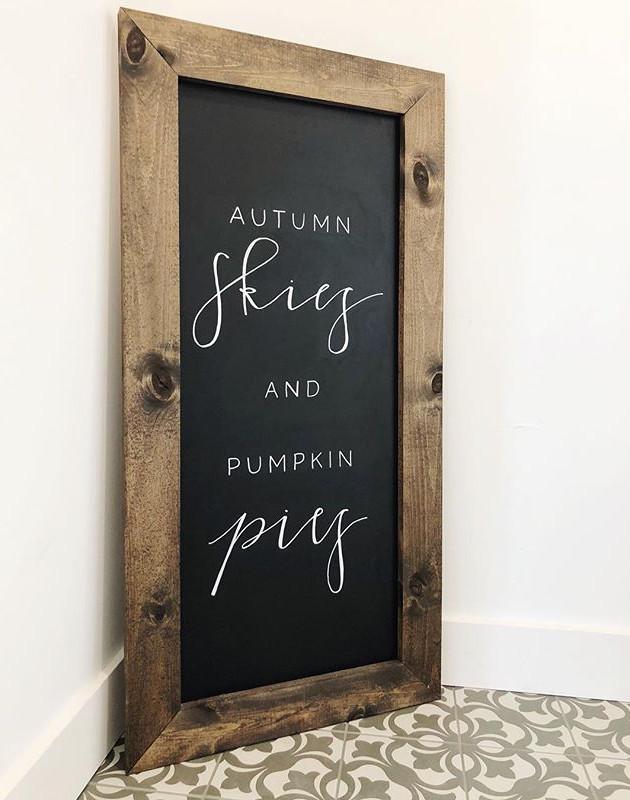 _ autumn skies & pumpkin pies __My favor