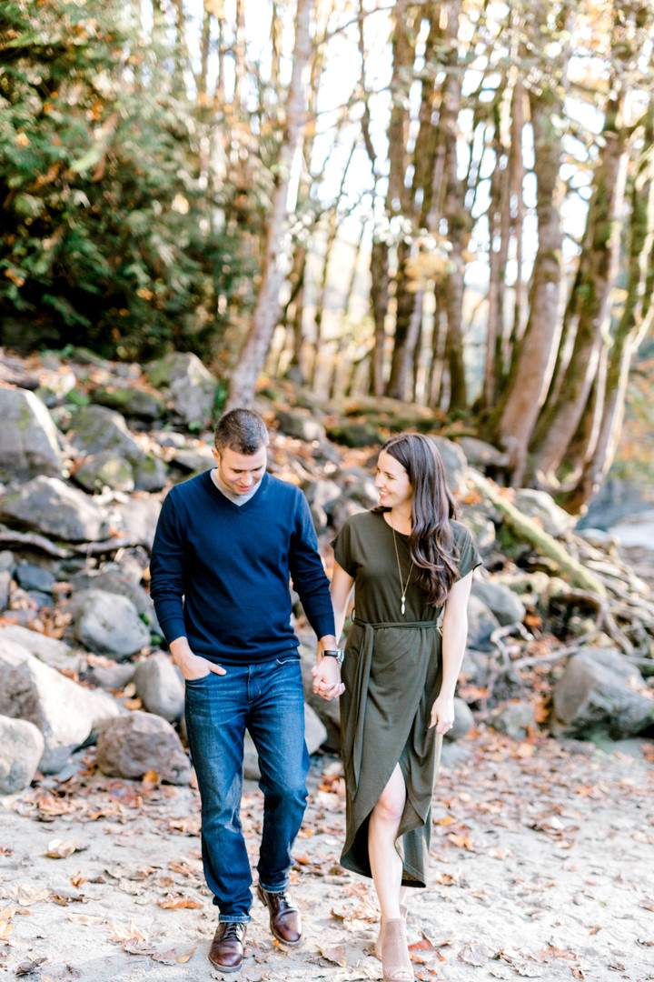 Snoqualmie Falls Engagement-PNW Photographers-Something Minted