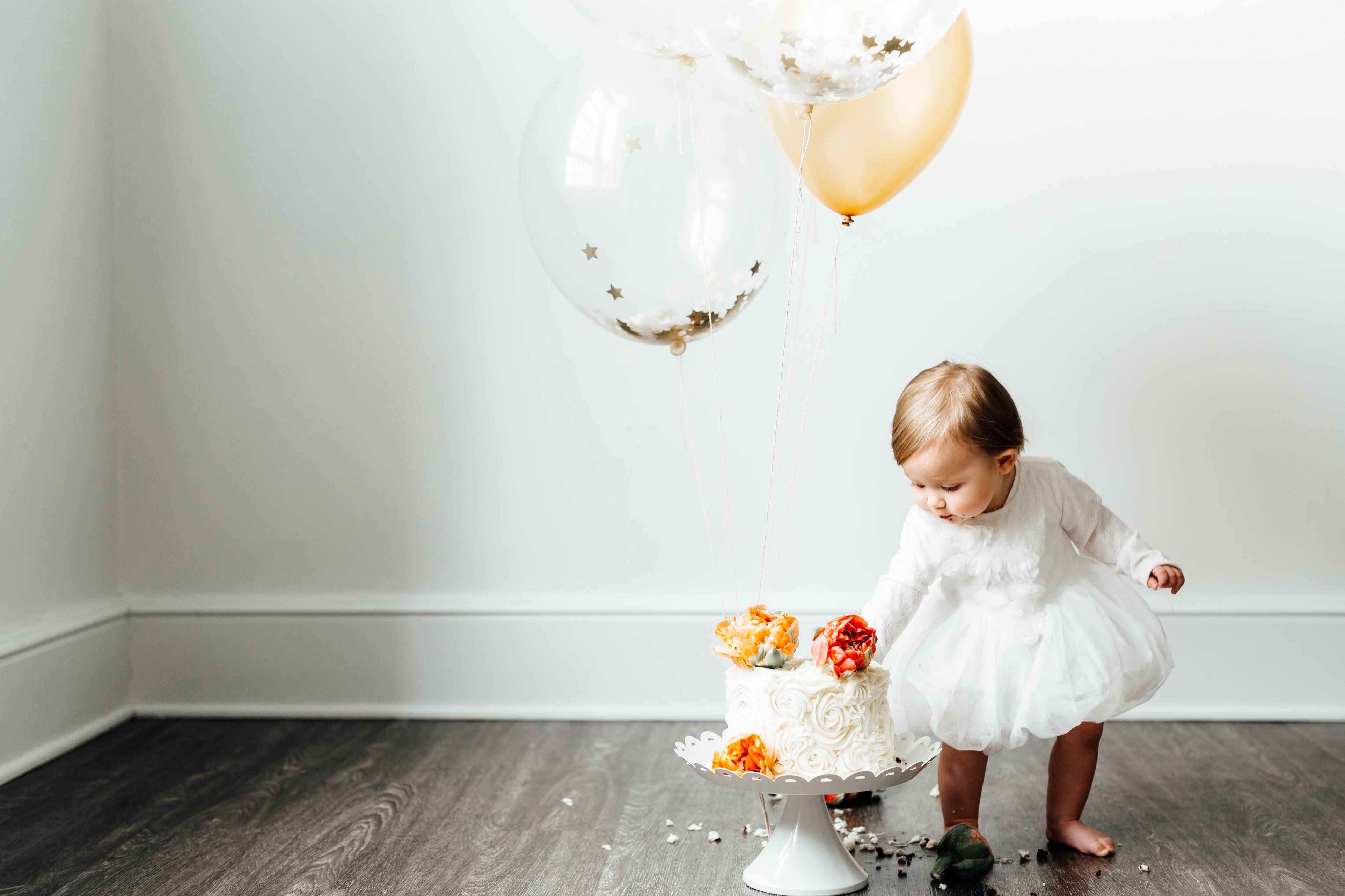 First Birthday Cake Smash _ Tacoma Family Photographers _ Something More Photography