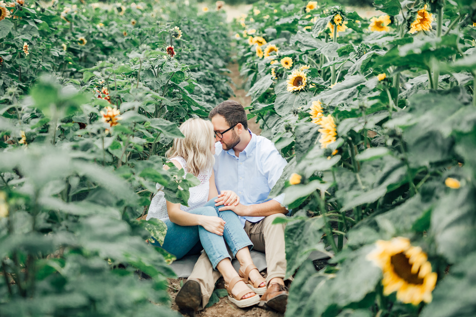 U-Pick Flower Farm, Farm Session, PNW Engagement Session Photography-Something Minted