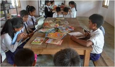 Discontinuity between library and school in India