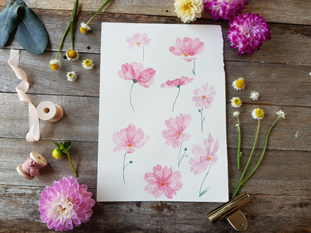 How to paint layered watercolour flowers! (beginner friendly)