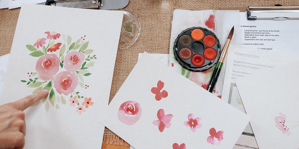 Watercolour Florals - Hobart
