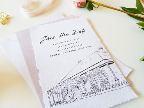 Custom Wedding Stationery Launceston Tasmania Watercolour