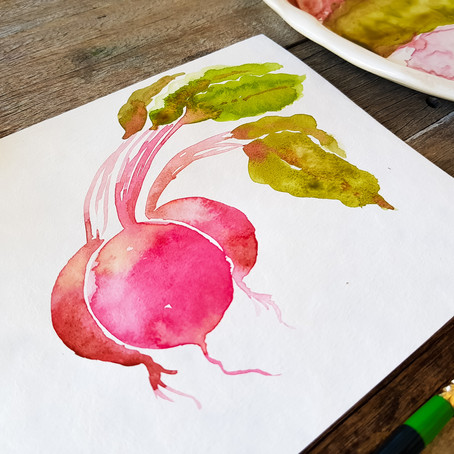 Watercolour for Beginners: how to paint beetroot!