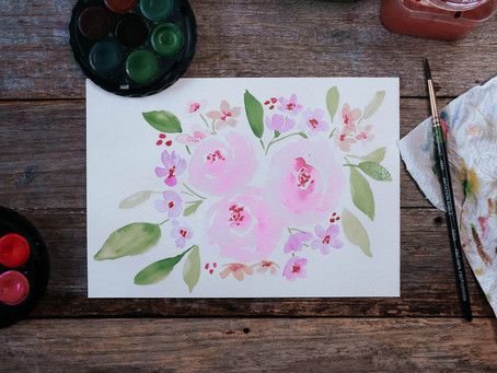 Watercolour FLORALS (beginner friendly, I promise!)