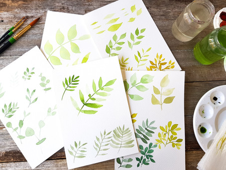 Watercolour for Beginners: Tips for painting watercolour leaves