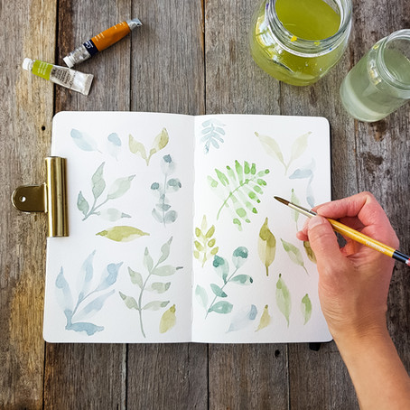 Watercolour painting for relaxation