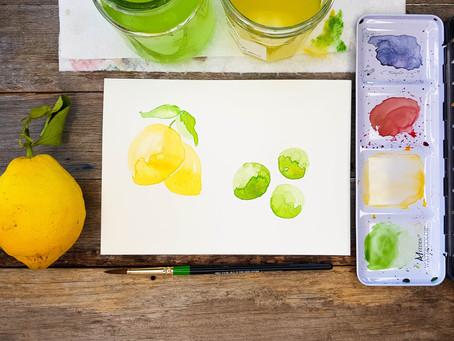 Watercolour lemon and limes tutorial!