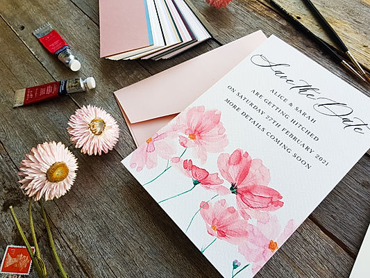 Luxury Watercolour Wedding Invitations