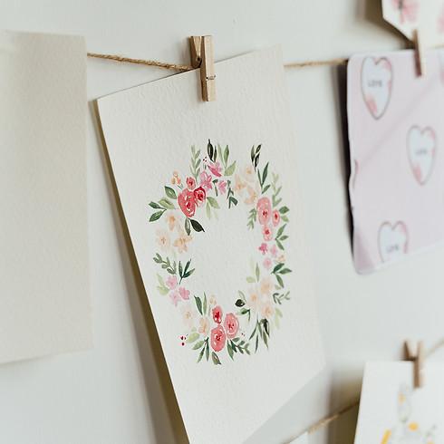 Watercolour Floral Wreath Workshop - Deloraine