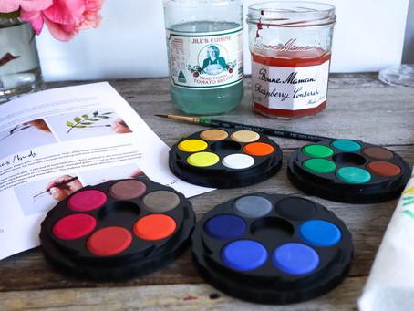 DIY colour chart (using my Watercolour Kits!)