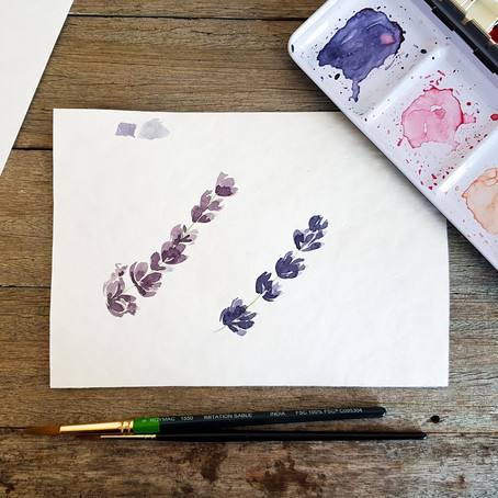 Watercolour for Beginners: how to paint watercolour lavender