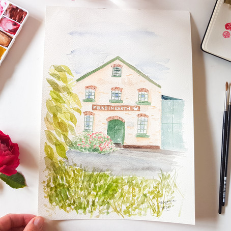 Gift ideas: when to order custom watercolour artwork!