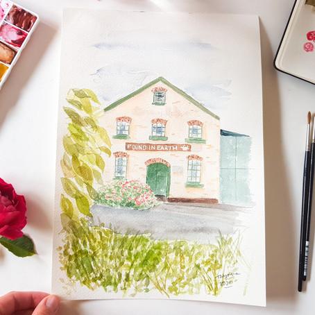 Gift ideas: when to order custom watercolour artwork!