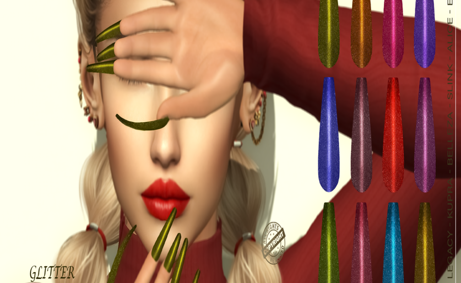.__ SO __. - Bento Nails Mesh Ballerina Long Glitter