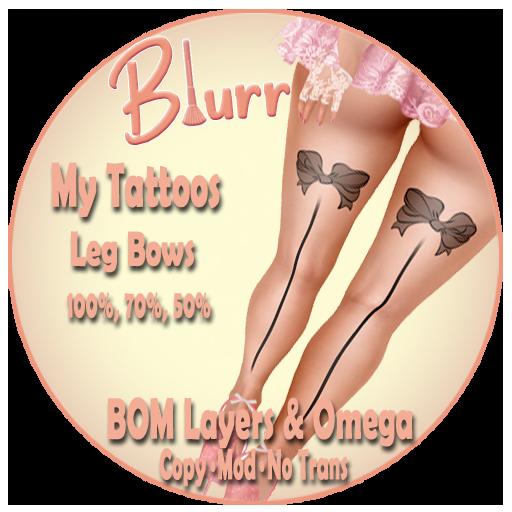 Blurr - My Tattoos - Leg Bows
