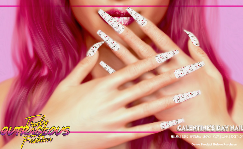 {TOF} - GALENTINE'S DAY NAILS