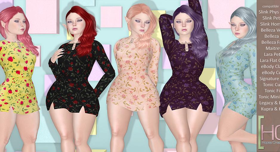 [HC] - Harriet Roses Mini Dress