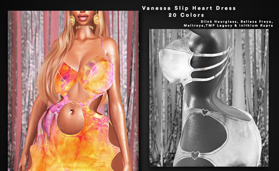 ᴍᴏɴᴛᴇꜱqᴜɪᴇᴜ - Vanessa Slip Heart Dress.p
