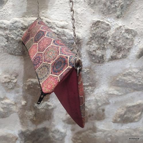 Sac Miléna hexagone rouge