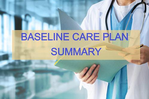 Baseline Care Plan Summary