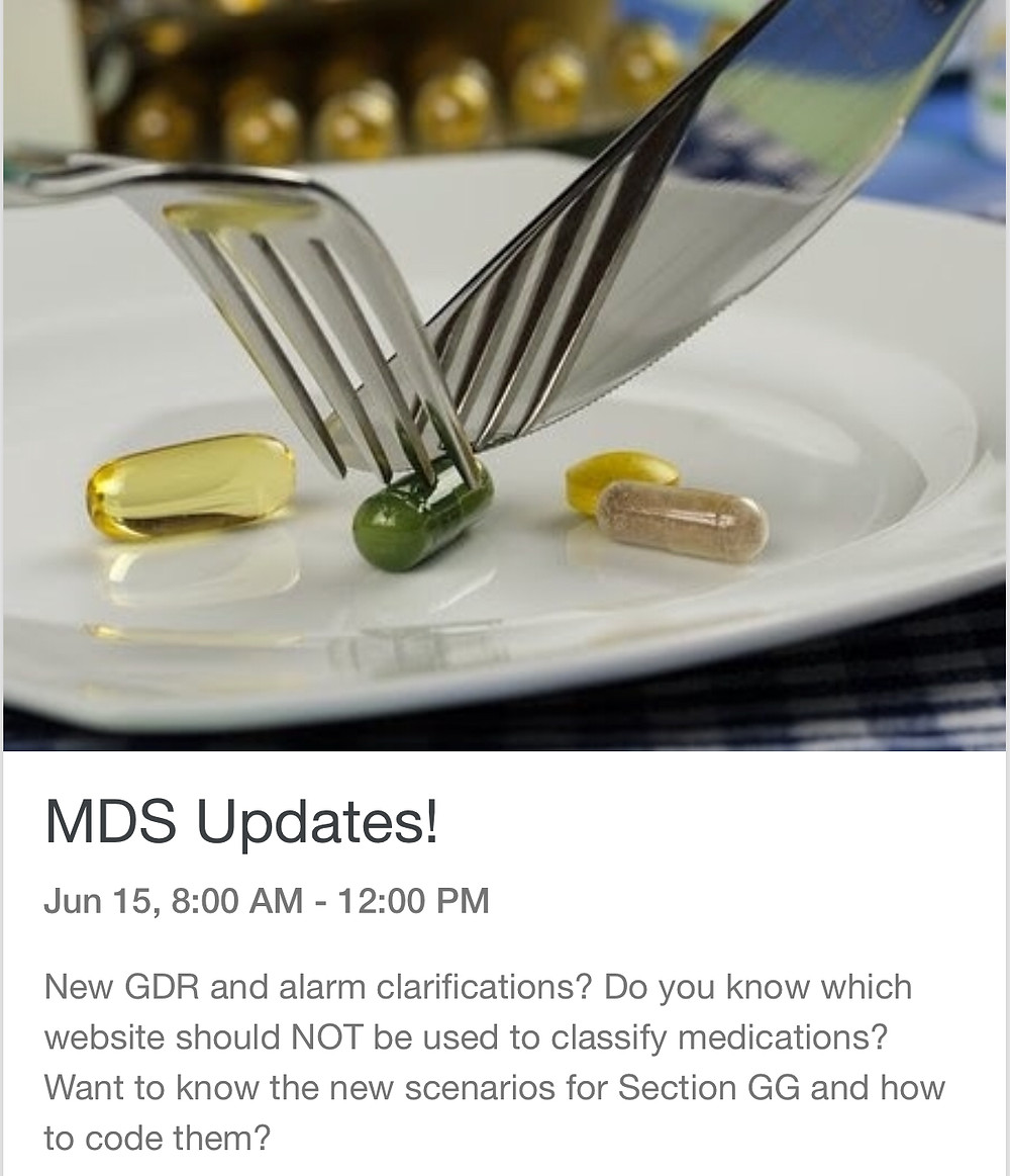 MDS Updates GDR and Section GG