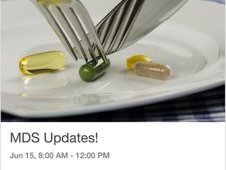 MDS Updates!