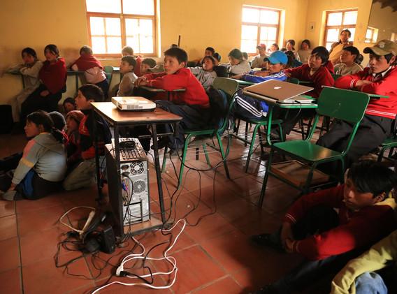 Cine Foro en el aula en Chimborazo