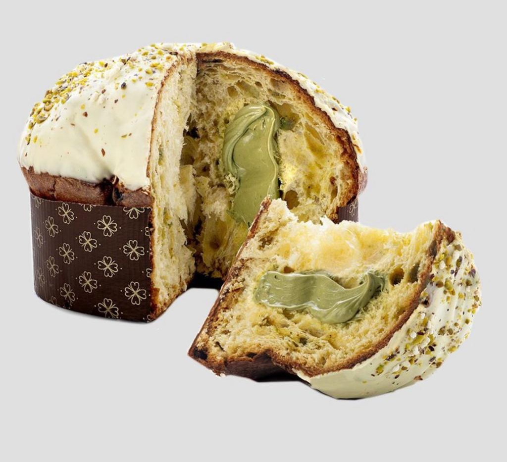 Pistachio Topping with Pistachio Cream Panettone