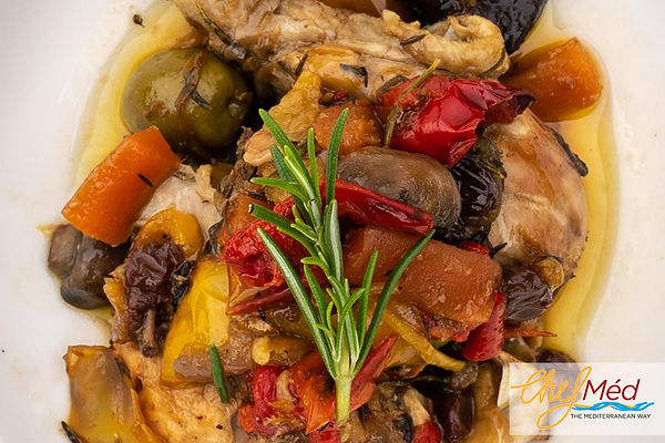 Sicilian Chicken stew with Aubergines an