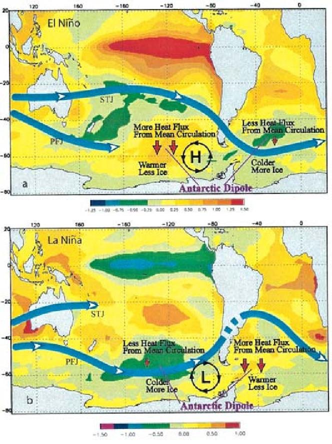 Obr. 11 Anomálie povrchové teploty moře