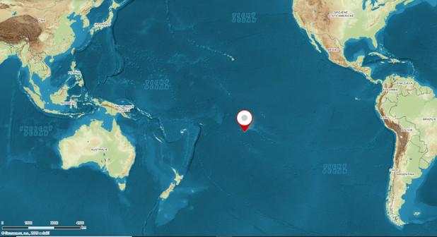 Poloha ostrova Tahiti
