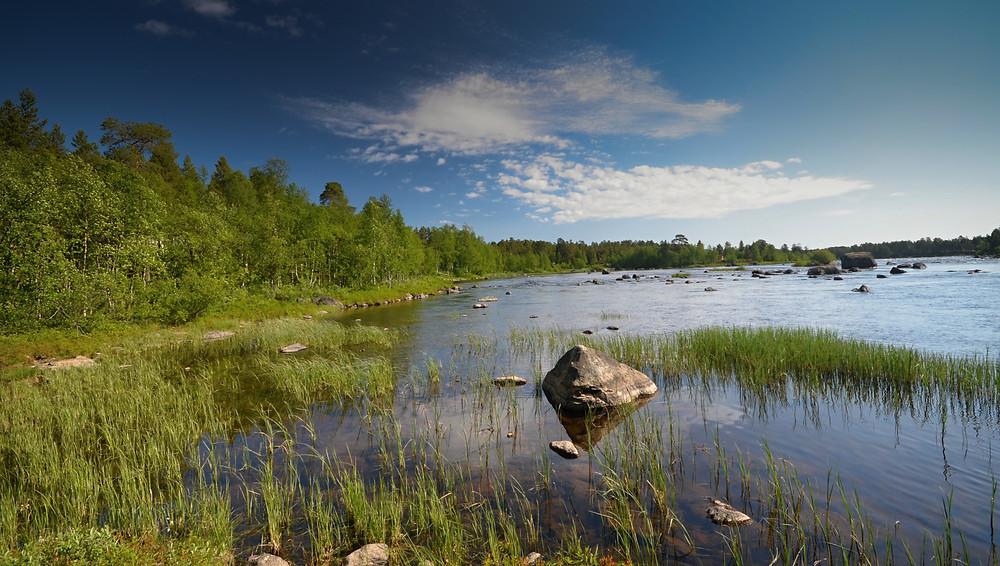 Největší jezero v severním Finsku I Laponsku