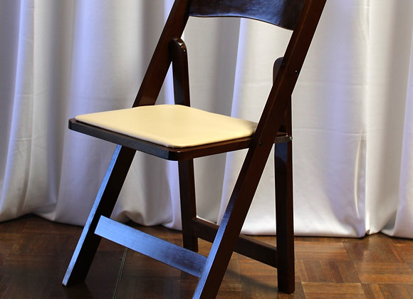 Fruitwood Folding Chair with Padded Seat
