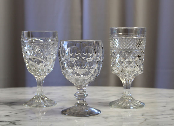 Clear Mixed Vintage Glass