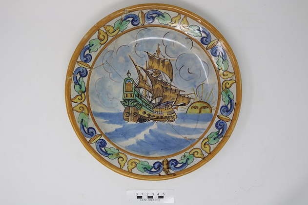 Large Ceramic Saucer [2004.9.380]