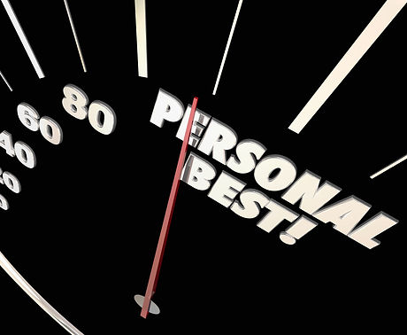 Personal Best New Record Time Speedometer Words 3d Illustration.jpg
