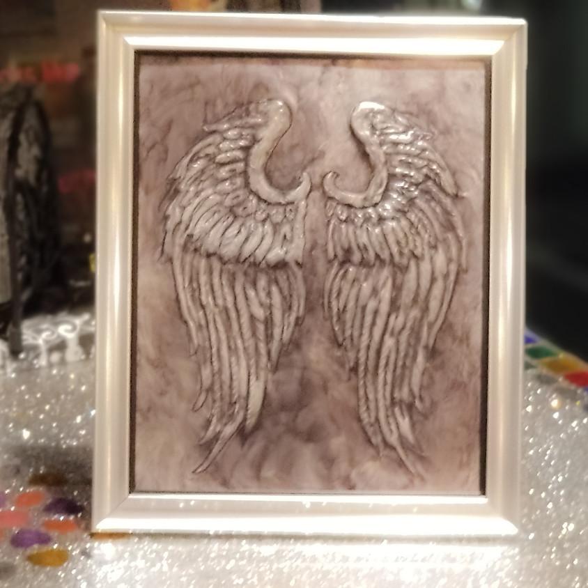 Angel Wings Embossed Metal