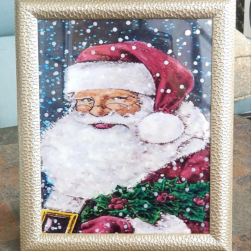 Santa Claus Alcohol Ink