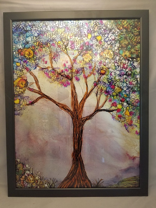 Alcohol Ink - Fall Tree